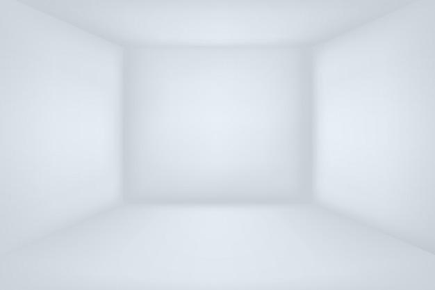 Quarto branco vazio.