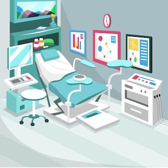 Quarto de hospital de cirurgia de parto por cesariana