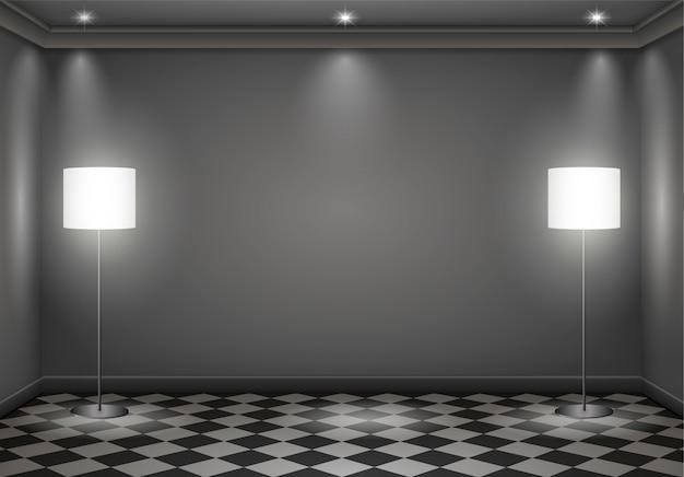 Quarto escuro interior