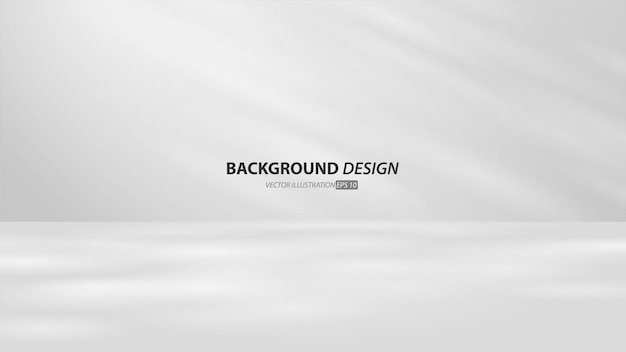 Quarto estúdio cinza vazio e fundo claro. exibição do produto com espaço de cópia para exibição do design de conteúdo. banner para anunciar o produto no site.