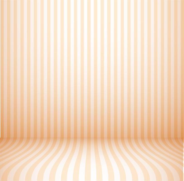 Quarto estúdio laranja vazio, iluminação de fundo