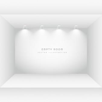 Quarto vazio com luzes embutidas