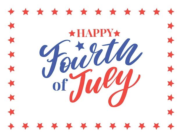 Quatro, 4 de julho, elegante design do dia da independência americana, quatro de julho