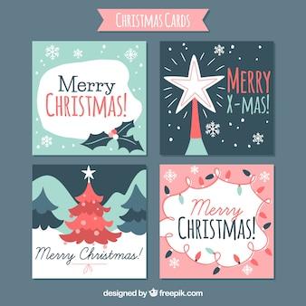 Quatro bons cartões de natal