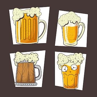 Quatro cervejas para celebração da oktoberfest