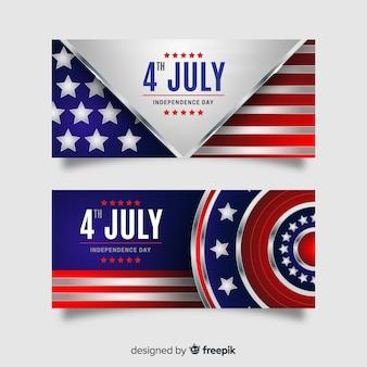 Quatro de julho banners