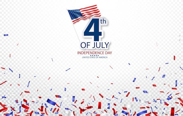 Quatro de julho dia da independência da celebração dos eua