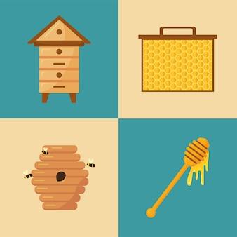 Quatro elementos de apicultura