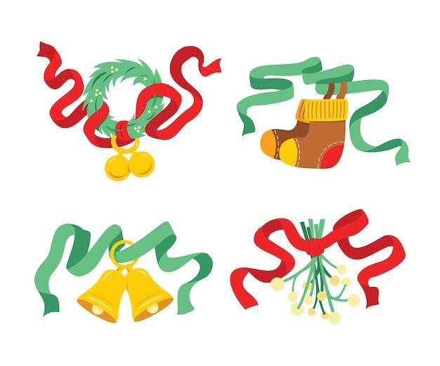 Quatro elementos para a decoração de natal