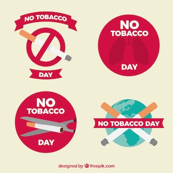 Quatro etiquetas anti-fumo