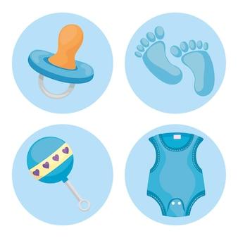 Quatro ícones de bebê