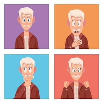 Quatro idosos com alzheimer