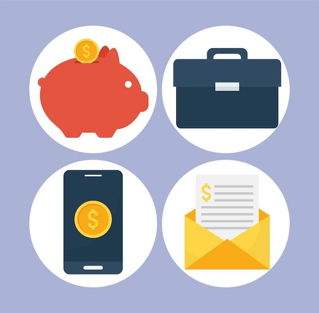 Quatro itens de finanças pessoais