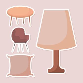 Quatro itens de mobília