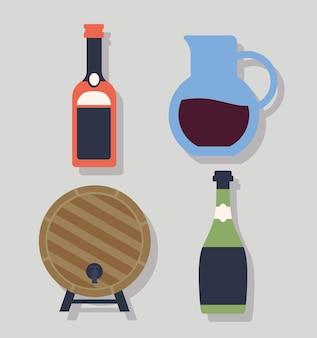 Quatro itens de vinho