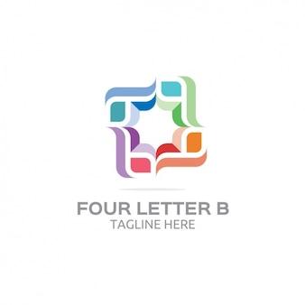 Quatro letra b do logotipo