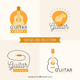 Quatro logos de guitarra