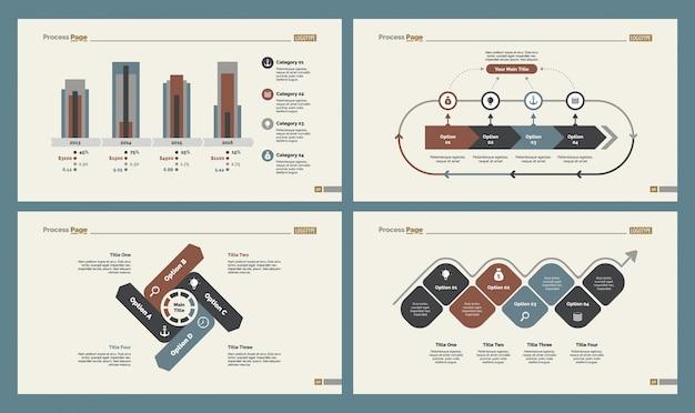 Quatro modelos de produção conjunto de modelos de slides
