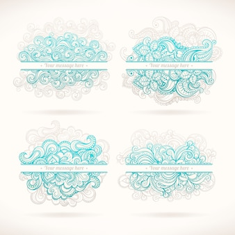 Quatro molduras turquesa