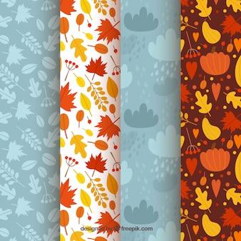 Quatro padrões, elementos de outono