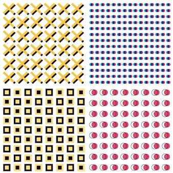 Quatro padrões modernos de memphis