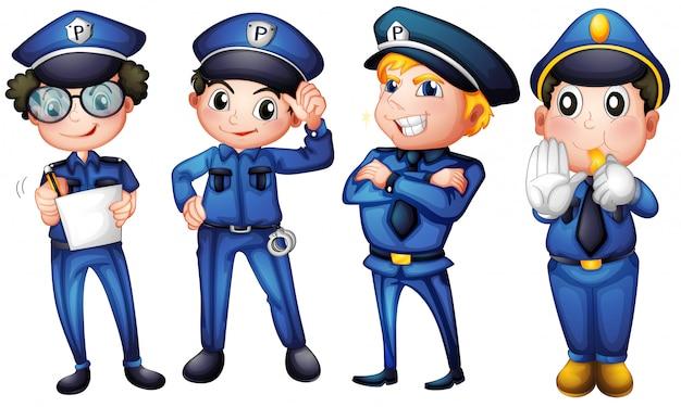Quatro policiais