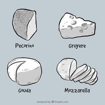 Quatro queijos deliciosos