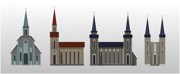Quatro tipos de igreja católica ..