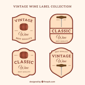 Quatro vinhos com estilo retro