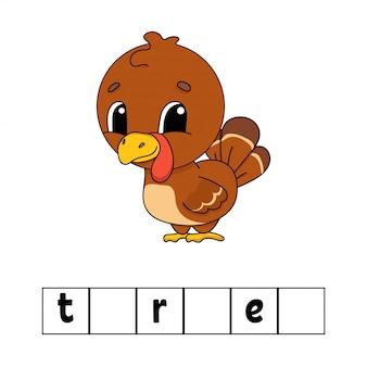 Quebra-cabeça da palavra turquia.