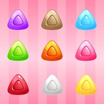 Quebra-cabeça de blocos de doces de triângulo