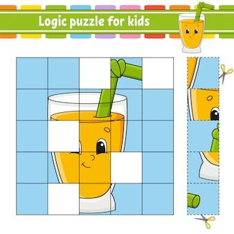 Quebra-cabeça de lógica para crianças.