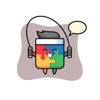 Quebra-cabeça, design de estilo fofo para camiseta, adesivo, elemento de logotipo