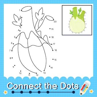 Quebra-cabeça infantil do canil conecte a planilha de pontos para crianças contando os números de 1 a 20