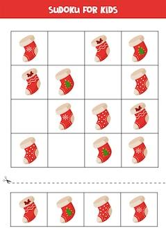 Quebra-cabeça lógico sudoku para crianças pré-escolares. planilha educacional.