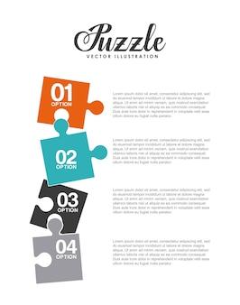 Quebra-cabeça, montagem de design, ilustração vetorial eps10 gráfico