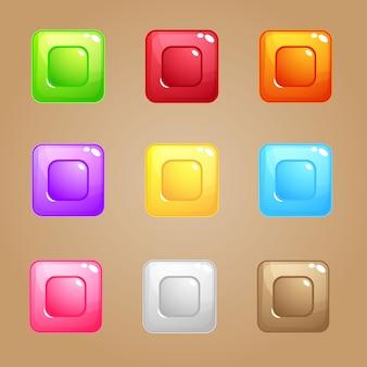 Quebra-cabeça quadrado bloco de doces