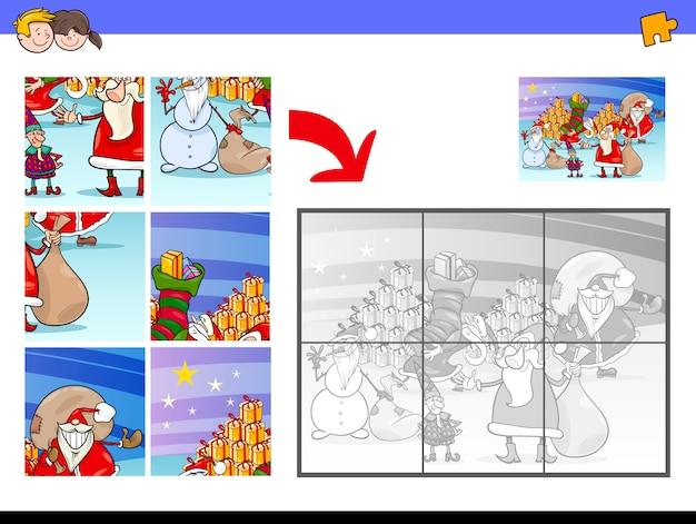 Quebra-cabeças com personagens de natal