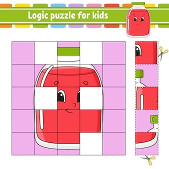 Quebra-cabeças de lógica para as crianças.
