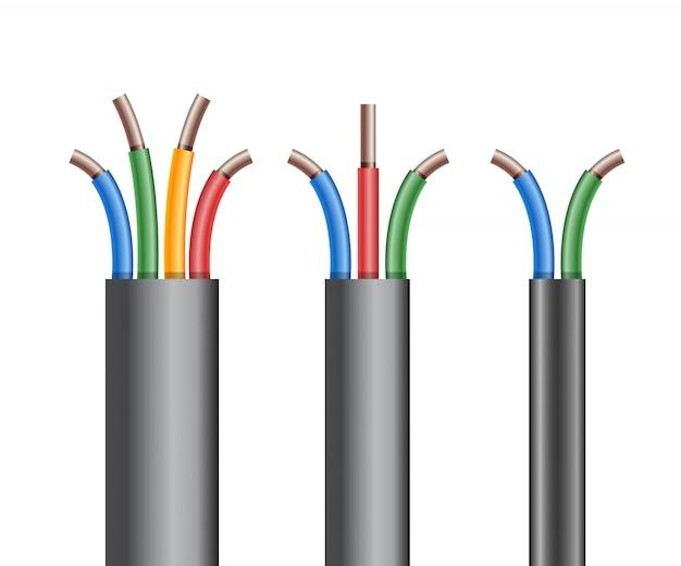 Quebra de cabo elétrico de cobre