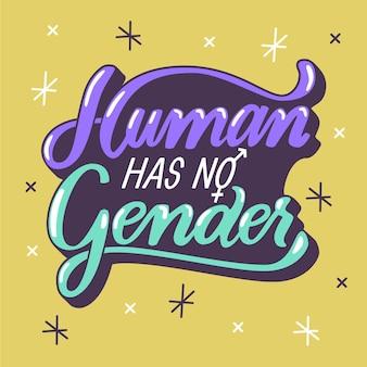 Quebrar letras de normas de gênero