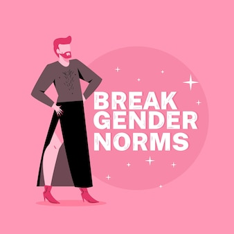 Quebrar o conceito de ilustração de normas de gênero