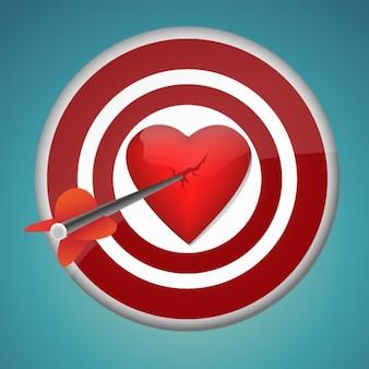 Quebrar o coração com o vetor de dardo