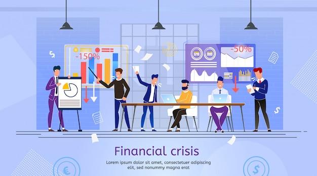 Queda de empresa em crise financeira