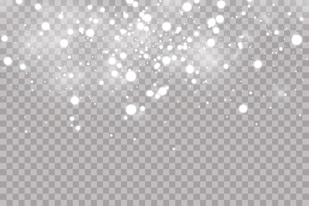 Queda de granizo ou neve em um fundo transparente. textura de gotas de água caindo.