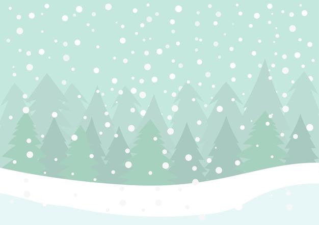 Queda de neve com neve branca