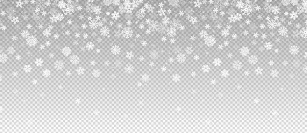 Queda de neve de inverno