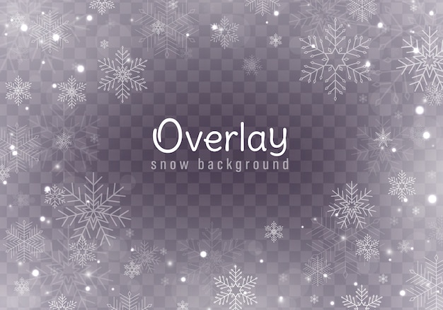 Queda de neve de natal, flocos de neve, forte nevasca.