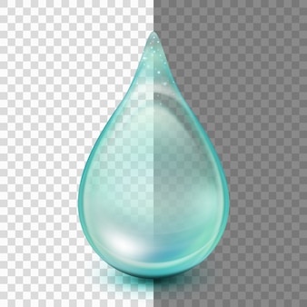 Queda isolada em fundo transparente.