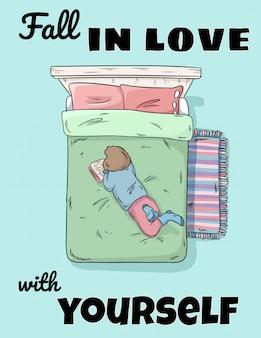 Queda no amor com você mesmo cartão